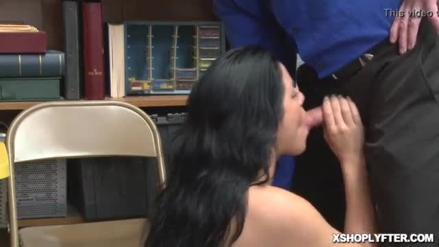 Kat arina gagging the lp officers cock inside her mouth