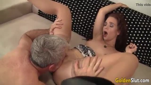 Horny fat granny gets her pussy licked and fucked