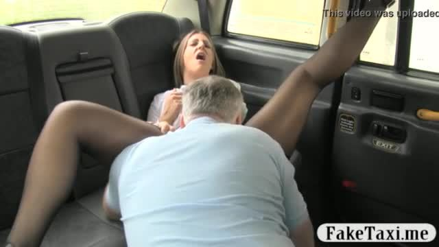 Cracking ass and big tits woman pounded by nasty driver