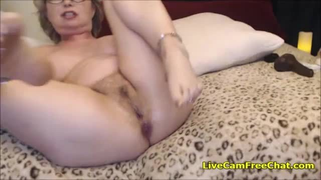 Charming milf with huge saggy boobs oiled and hard fucked