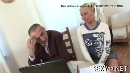 Older teachers are getting blowjob from chick