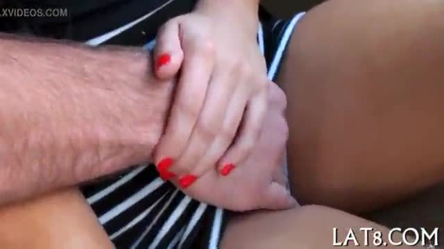 Darling tames a tough cock with engulfing